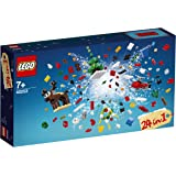 LEGO 40253 Build Up Playset, 24-in-1 Model, Fun Christmas Construction Toy for Kids