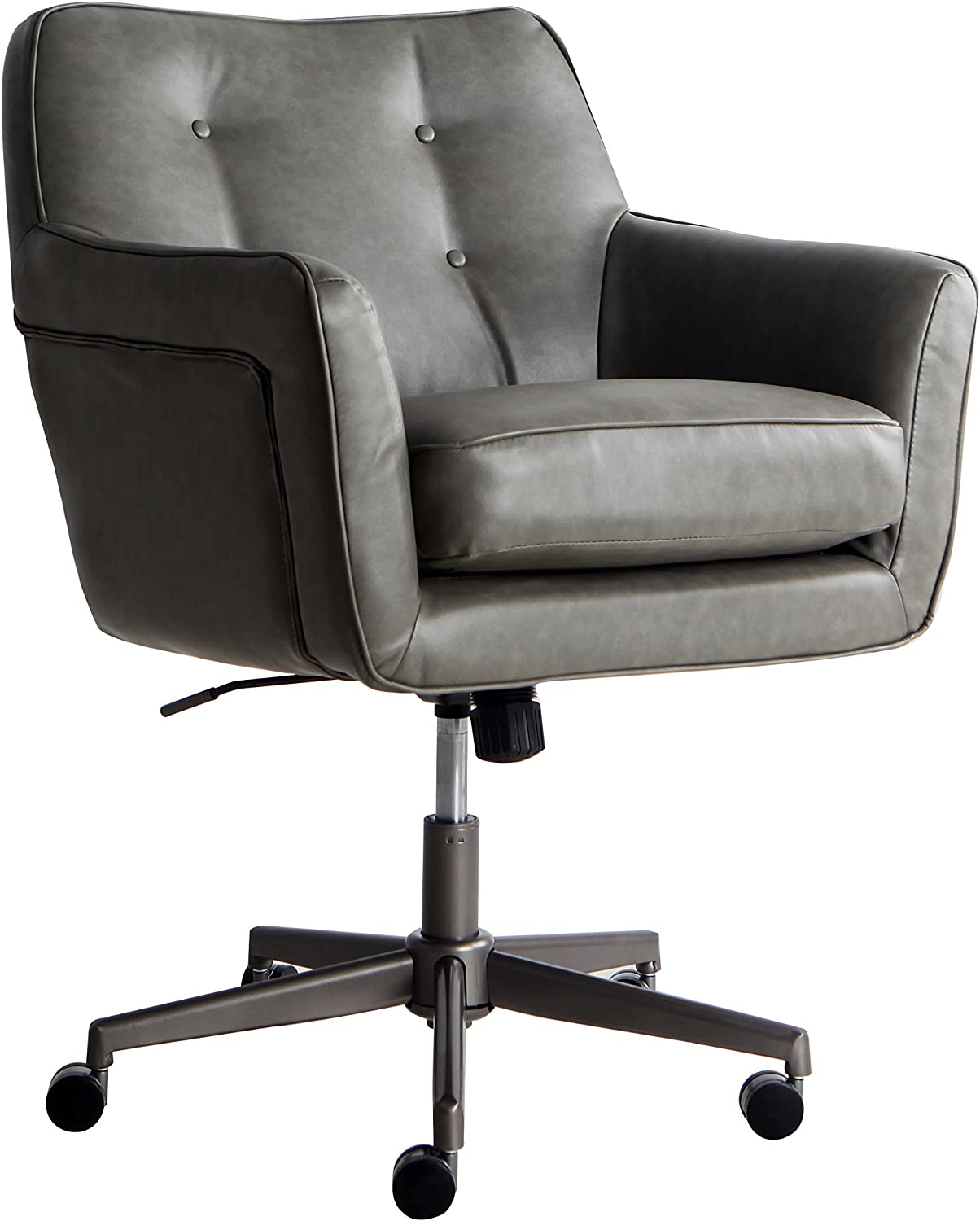 Serta Style Ashland Home Office Chair, Gathering Gray Bonded Leather