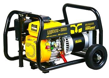 HISPANUS GENERADOR ELECTRICO 3500W, 230V. GASOLINA. GAMA LIGEROS: Amazon.es: Bricolaje y herramientas
