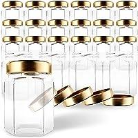 Gojars Hexagon Glass Jars 6oz Premium Food-grade. Mini Jars With Lids For Gifts,...