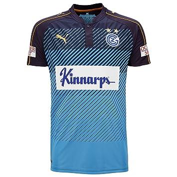 Puma Camiseta del Grasshopper Club Zúrich para Hombre, Tercera equipación, Hombre, T-Shirt Grasshoppers Zurich Third, New Navy-Flame Orange, ...