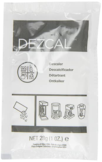 Urnex Dezcal Activated Descaler - 100 Pack (1 Ounce Packets) - For Use on