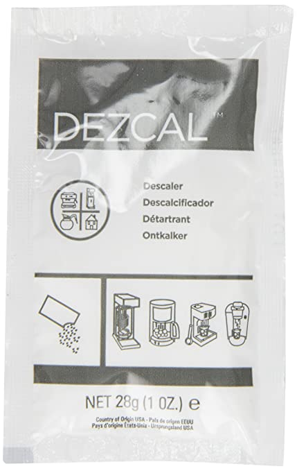 Amazon.com: Urnex Dezcal Activated Descaler - 100 Pack (1 Ounce Packets) - For Use on Commercial Boilers and Heating Elements of Coffee and Espresso ...