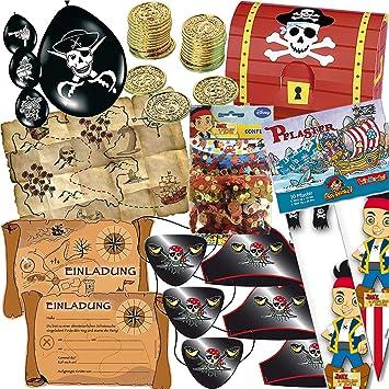 165 piezas * Piratas y schatzsuche * Cumpleaños para niños ...