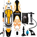 """Aqua Marina 10'10"""" Inflatable Stand Up Paddle Board (6"""" Thick) with Pump Backpack Center Fin Action Camera Mount kit Valve Adaptor Bundle"""