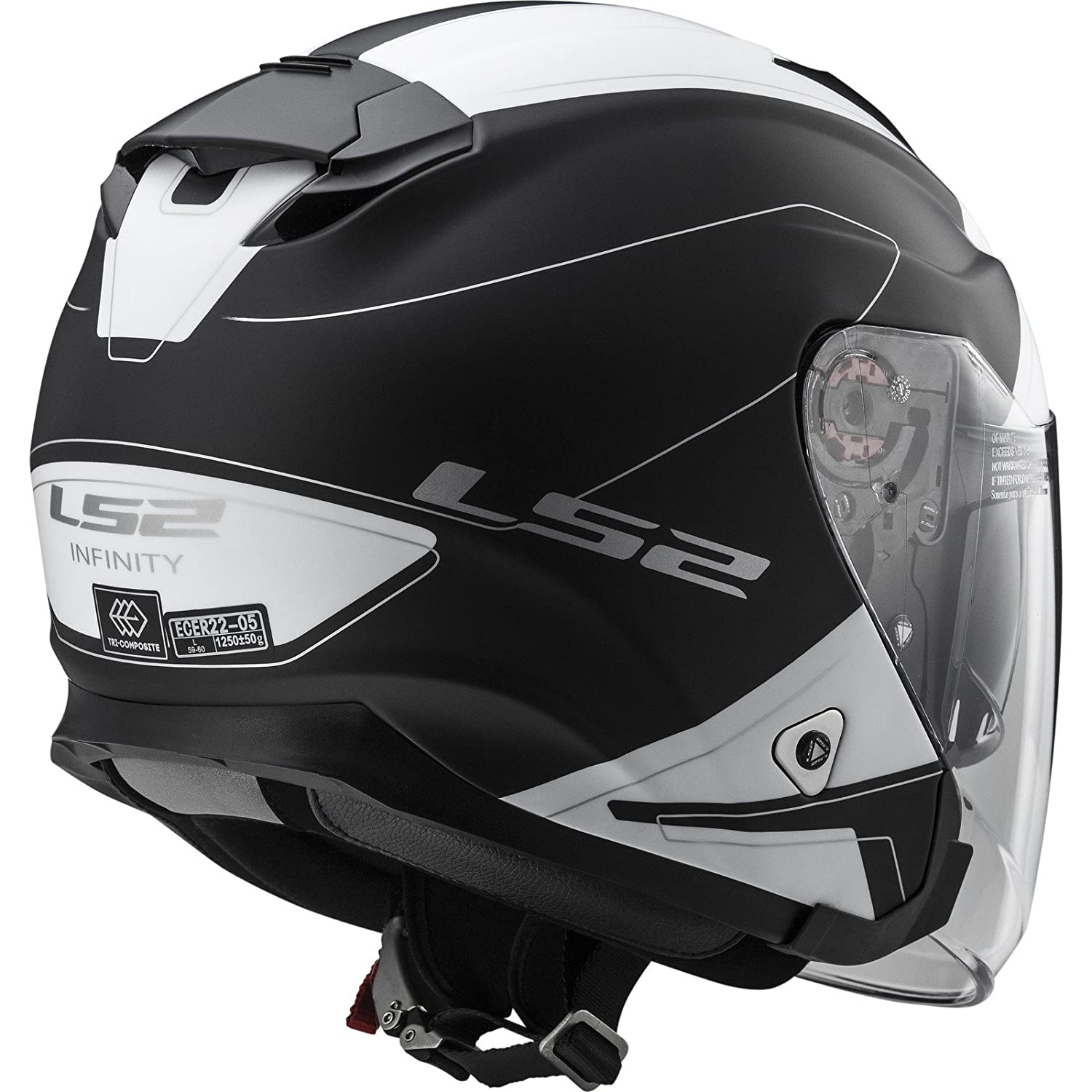 LS2 305212054M OF521 Casco Infinity Beyond Negro Hi, Color Vis Amarillo, Tamaño M: Amazon.es: Coche y moto