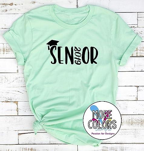 10a9a214c174 Amazon.com  Senior 2019 T-Shirt Top Back to School Tee - Unisex ...