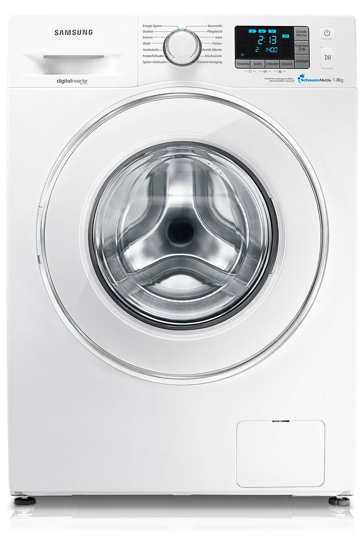 Samsung WF70F5E5P - Lavadora (Independiente, Color blanco, Frente ...