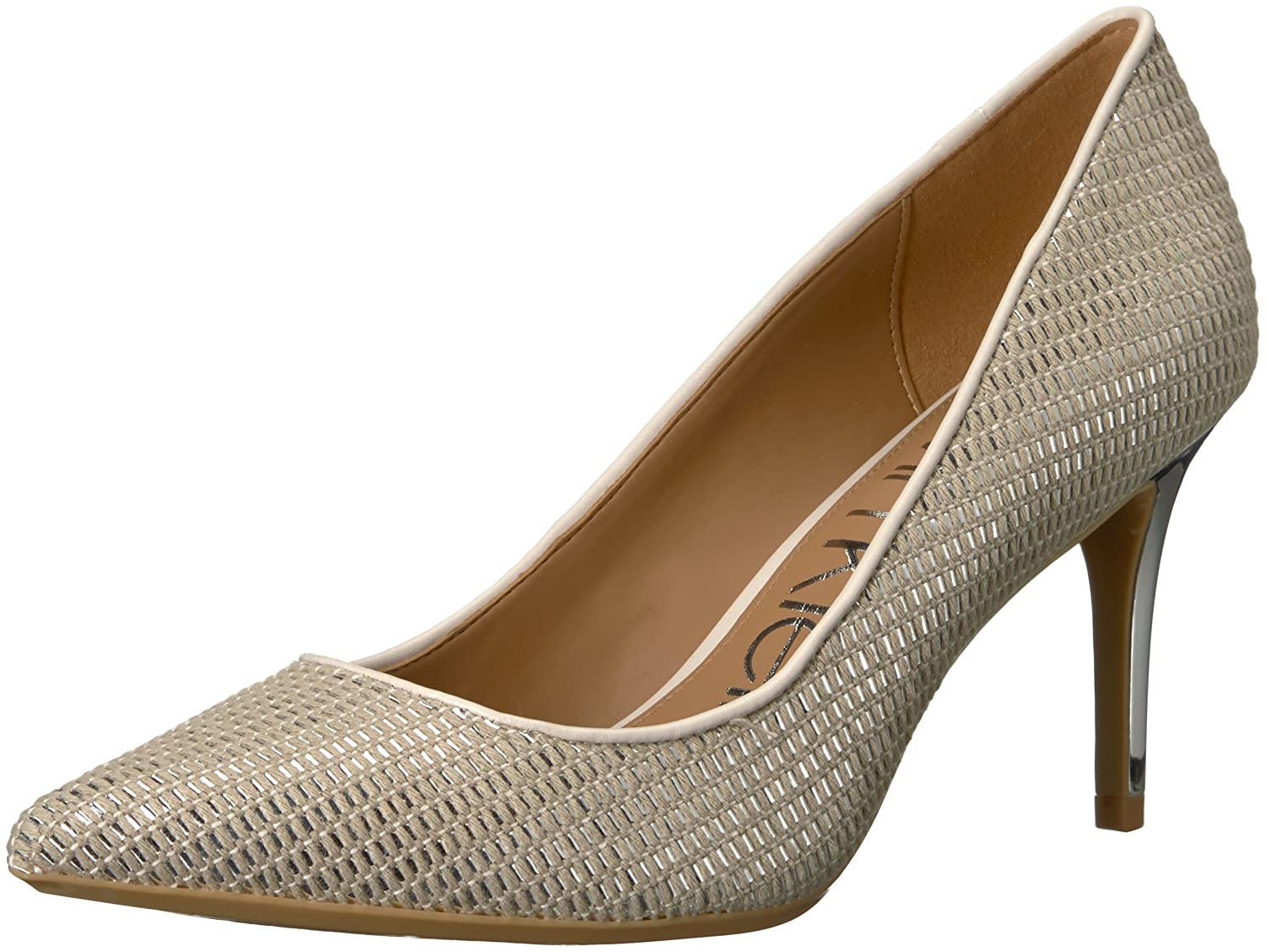 Calvin Klein Women's Gayle Pump B077J5DSSM 8.5 B(M) US|Natural/Silver/Soft White