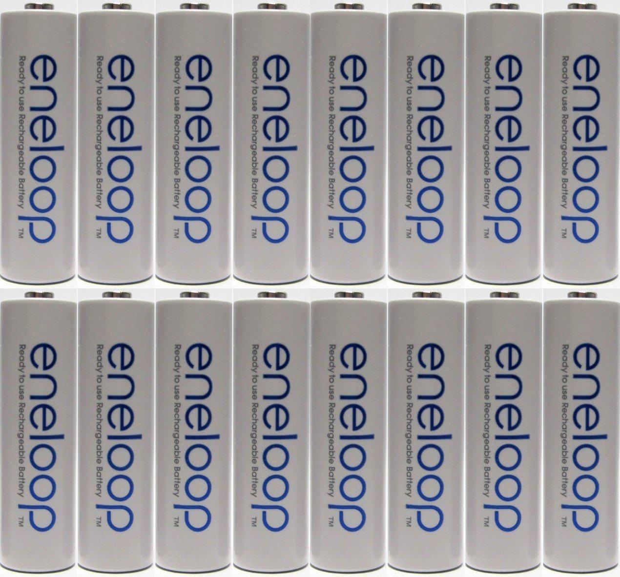Panasonic Eneloop Cargador de pilas que incluye 16 pilas ...