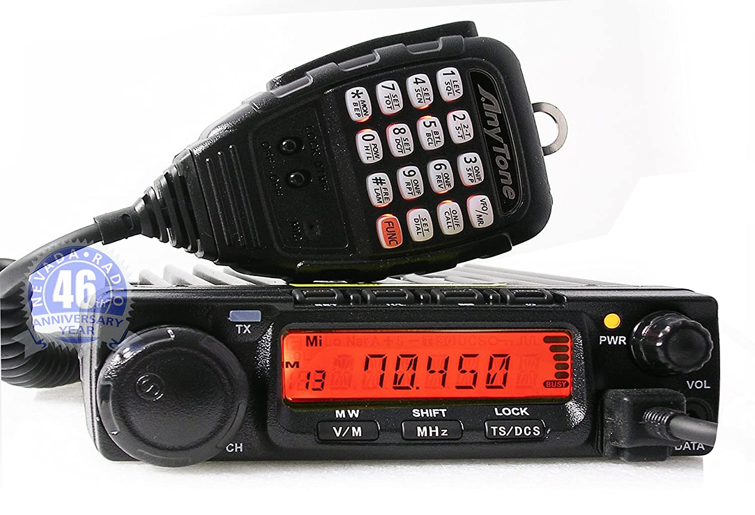 AnyTone AT588 66-88 MHz 70 MHz FM Amateur Radio Transceiver with Upto 50 W  Output