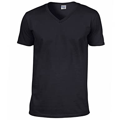 7198c9d8 Gildan Men's Softstyle V Neck Short Sleeve T Shirt | Amazon.com