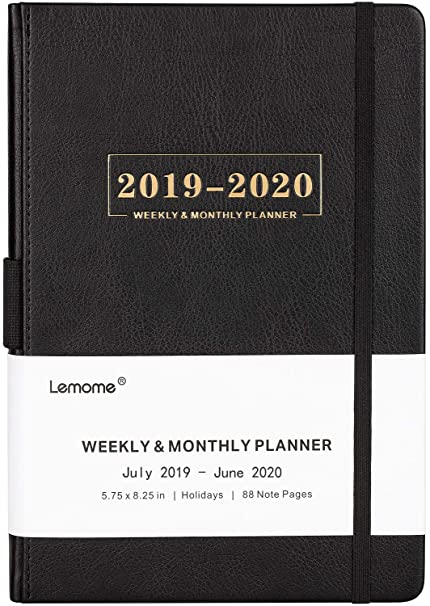 7b2f79de1c6 Planner 2019-2020 - Academic Weekly, Monthly and Year Planner with Pen Loop,