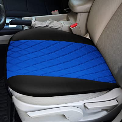 FH Group FB210BLUE102 Faux Leather and NeoSupreme Car Seat Cushion Pad with Front Pocket: Automotive