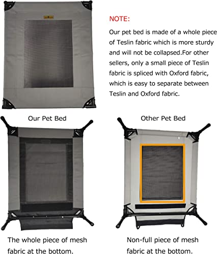 YEP HHO Detachable Elevated Dog Bed Oxford Cloth No-Slip Cool Breathable Durable Pet Bed for Indoor Outdoor