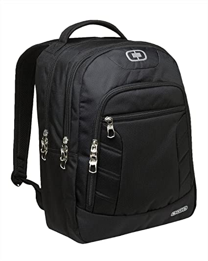 OGIO 411063 - Black/Silver Computer Laptop Colton Backpack, Black/Silver