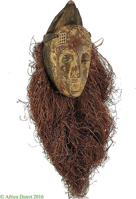Punu máscara Maiden espíritu con tocado Gabón arte africano ...