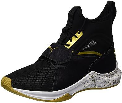 41b20d645570 PUMA Women s Phenom Wn Sneaker Black Team Gold