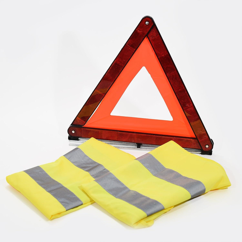 Gilet di sicurezza alta visibilità , 2 sicurezza Triangolo di segnalazione stradale Family Motoring & Leisure