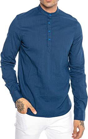 Redbridge Camisa de Lino para Hombre Suéter Casual Tunik ...