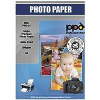 PPD A4 Jet d'encre Papier Photo Satiné - Microporeuse Super Premium - 280 g/m² X 100 feuilles