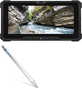 Dell Latitude 7212 Rugged Extreme Tablet Stylus Pen, BoxWave [AccuPoint Active Stylus] Electronic Stylus with Ultra Fine Tip for Dell Latitude 7212 Rugged Extreme Tablet - Metallic Silver
