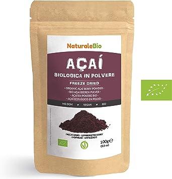 Bayas de Acai Orgánico en Polvo [Freeze - Dried] 100g. Pure Acaí ...