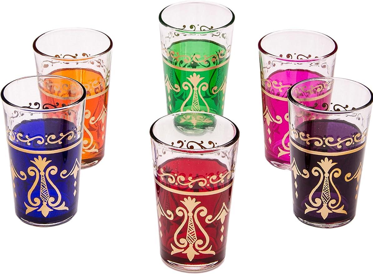 Arabische Orientalische Gläser Orient 6er Set marokkanische teegläser Alwan