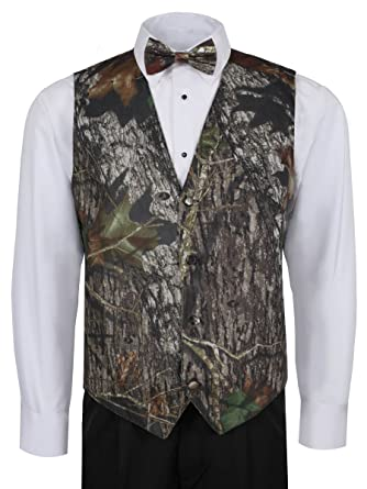 91eee5237419f Image Unavailable. Image not available for. Color: Mossy Oak Camouflage Vest  For Men w/ Long Tie & Bow ...