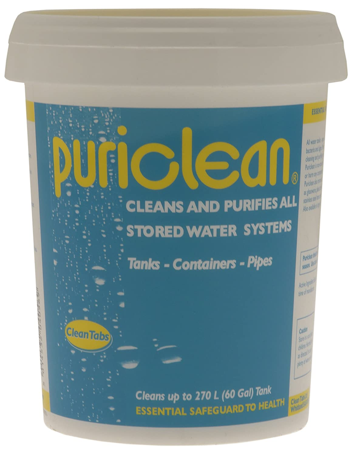 Clean Tabs Puri Water Cleaner and Purifier - Blue, 400 g: Amazon ...
