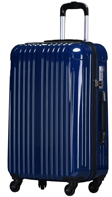ラッキーパンダ スーツケース TY001 ハード 超軽量 TSAロック ファスナータイプ 機内持込 B01AA20N04 Lサイズ(長期旅行向け) ネイビー ネイビー Lサイズ(長期旅行向け)