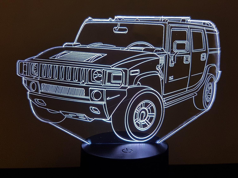 Lampe 3D Motif: Hummer H2