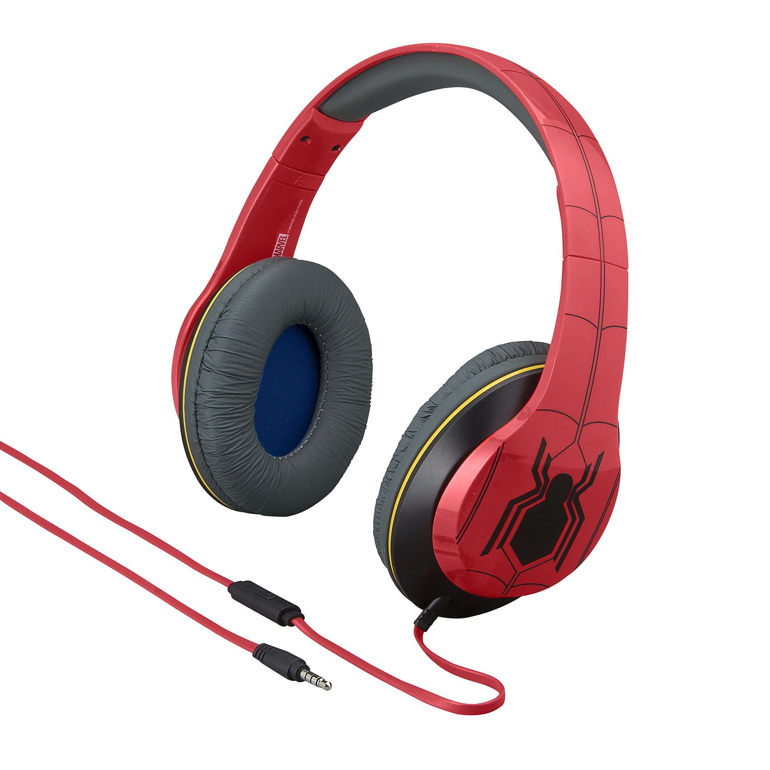 Marvel Spiderman Homecoming Over The Ear Headphones with Built in Microphone