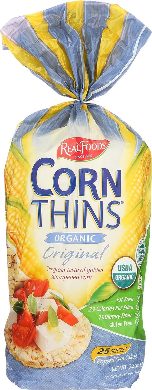 Real Foods Original Organic Corn Thins - 5.3 oz