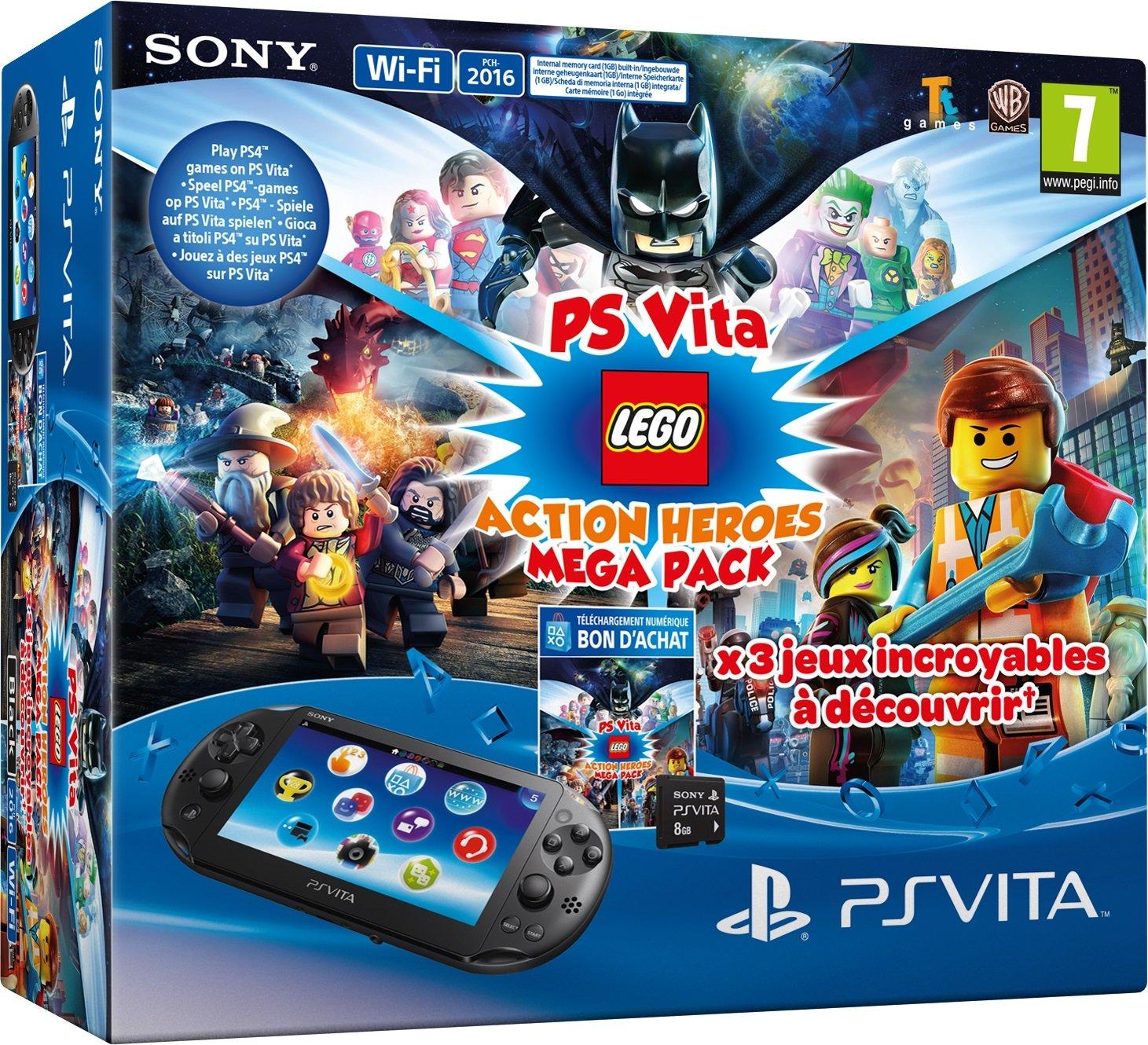 PlayStation Vita - Consola + Megapack Lego Heroes+ 8 GB ...