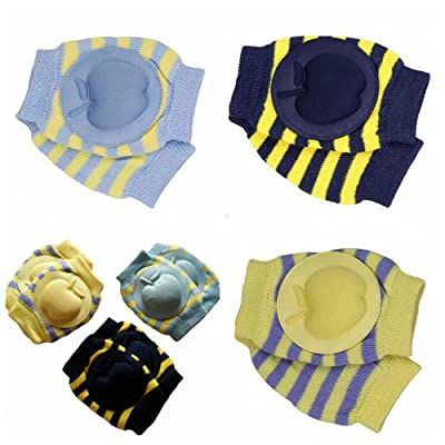 ZHW Boys Apple Cotton Adjustable Elastic Baby Crawling Child Knee Pad Toddler Elbow Pads Crawling Safety Protector 3pcs : Baby