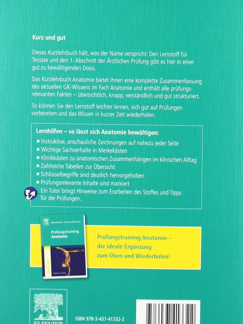 Kurzlehrbuch Anatomie: Amazon.de: Hellmuth Michels, Claas Lennart ...