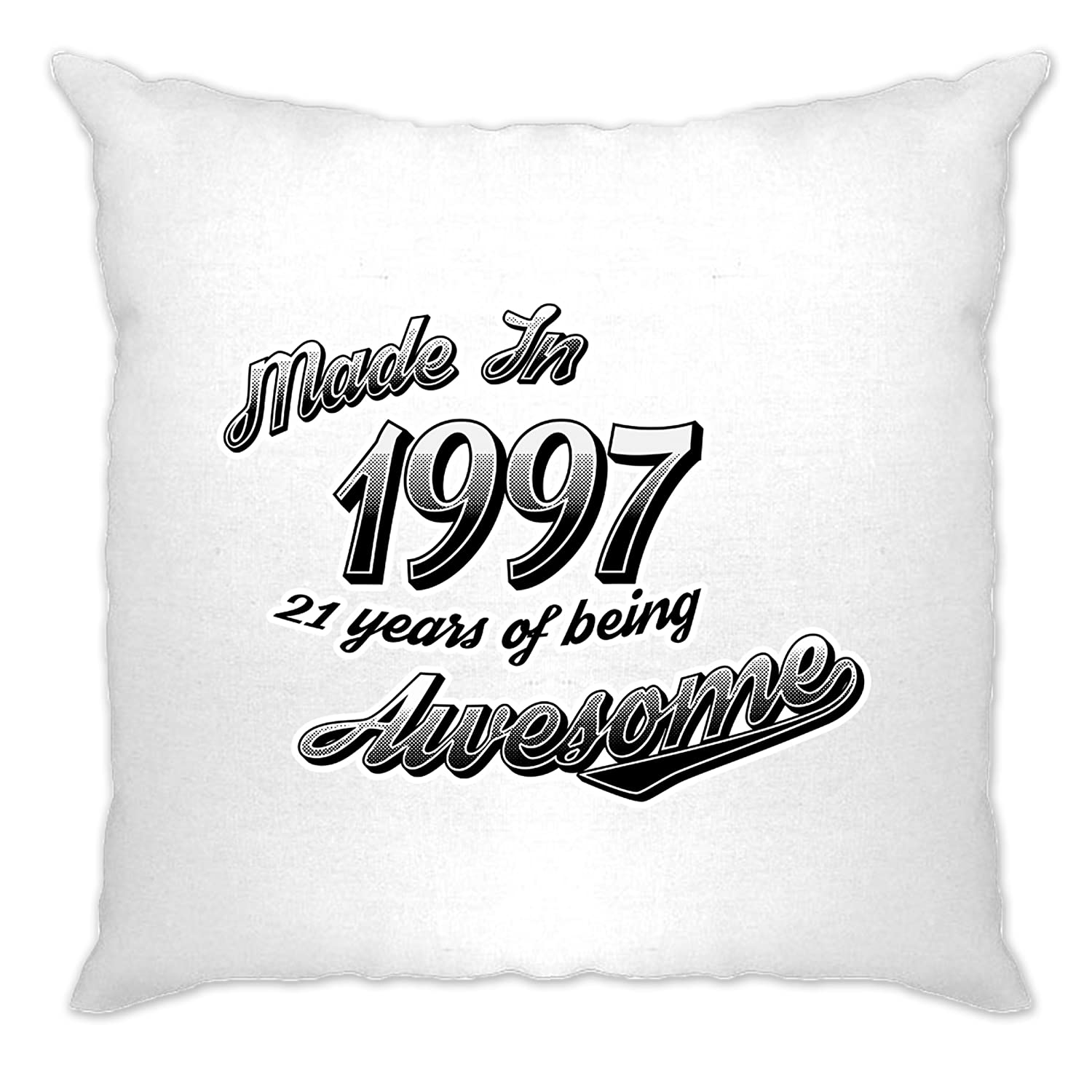 21st Birthday Cushion Cover Made 1997 21 Years Being Awesome A-CC-01535-NAT