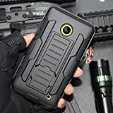 Nokia Lumia 520 Coque, Cocomii Robot Armor NEW [Heavy Duty] Premium Belt Clip Holster Kickstand Shockproof Hard Bumper Shell [Military Defender] Full Body Dual Layer Rugged Cover Case Étui Housse (Black)