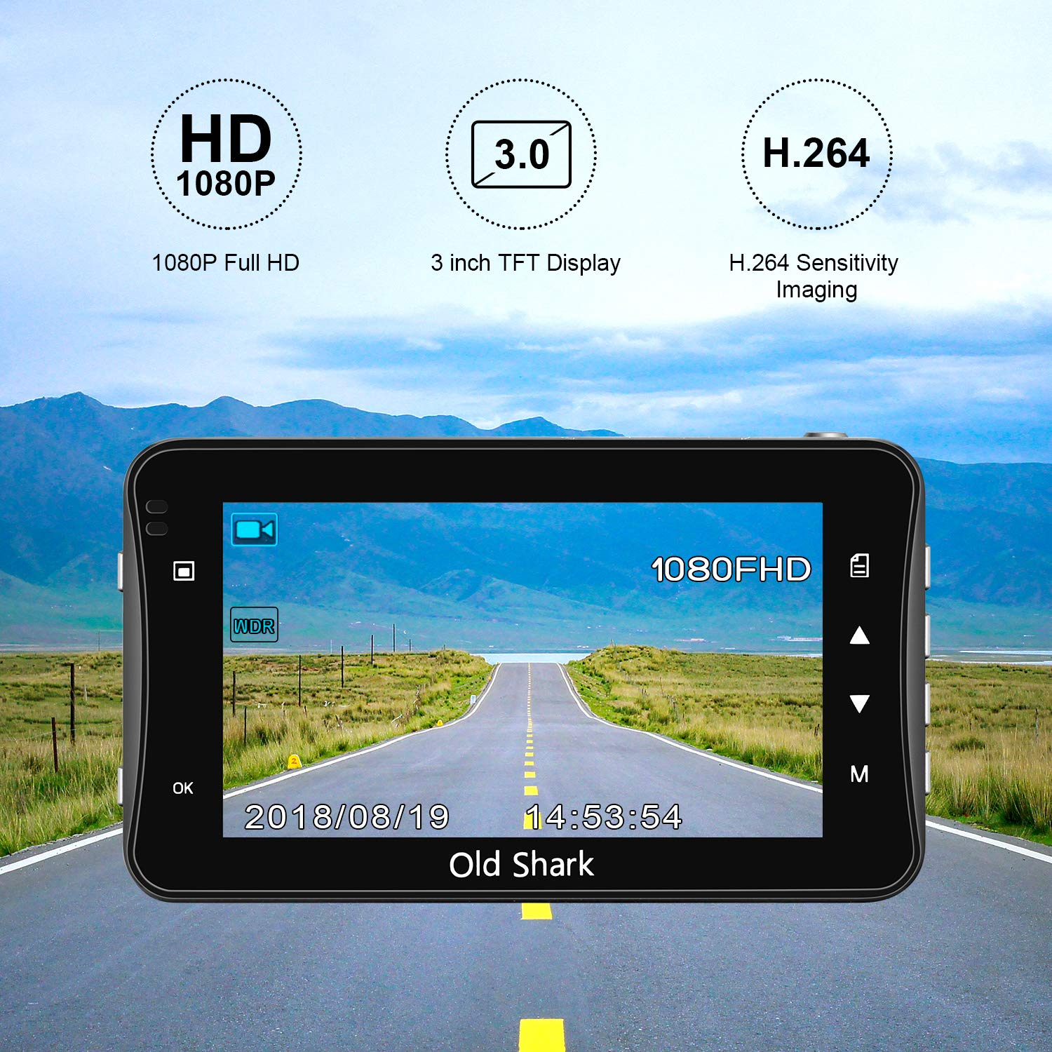 WDR Loop Recording OldShark Dash Cam with 32GB Card 3 1080P HD Car Recorder 170 Wide Angle Night Vison Dashboard Camera with G-Sensor Parking Guard