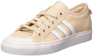 buy popular 546c9 235cd adidas Nizza, Chaussures de Basketball Femme, Multicolore  (Linenftwwhtftwwht), 36 2