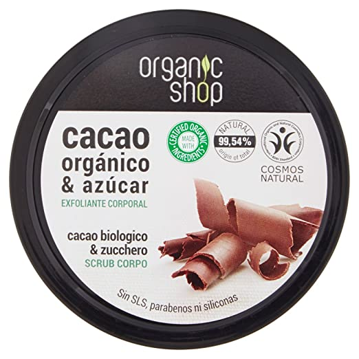 Amazon.com: Exfoliante Corporal Belgian - Chocolate - Organic Shop: Beauty