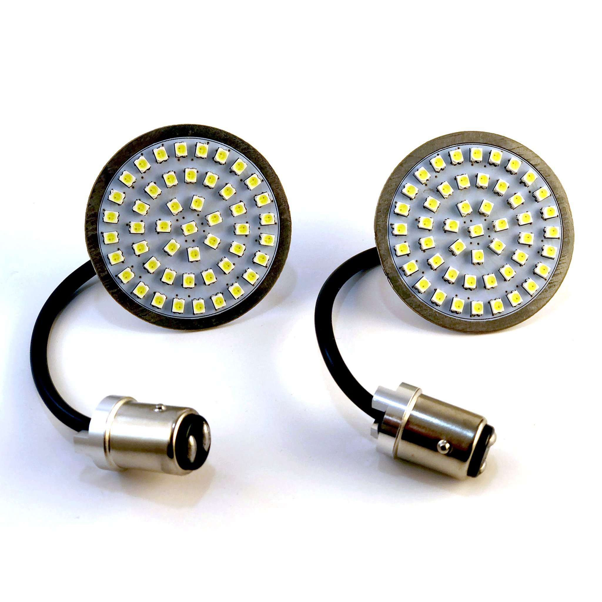 LumenX SigZ V2 Front LED Turn Signals With White Running Lights for Harley Davidson 1157 Bullet Style Inserts