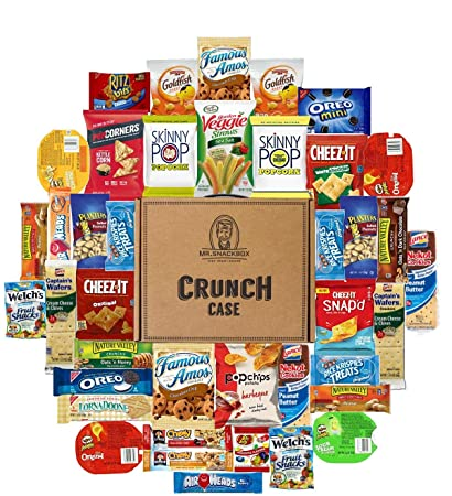 Snack Variety Care Package Gift Box (40 Count) - College Students, Military,