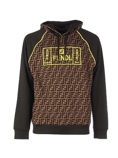 Braun Fashion Sweatshirt Fy0991a87ef0jnh Fendi Luxury Herren thorsQdCxB