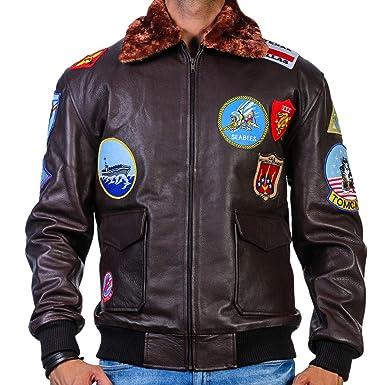 e67111104 Tom Cruise Top Gun Bomber Jacket | G-1 Navy Flight Leather Jacket at ...