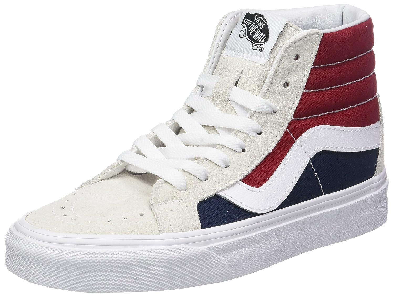 Vans Unisex-Erwachsene Mehrfarbig Sk8-Hi Reissue Hohe Sneaker Mehrfarbig Unisex-Erwachsene (Retro Block-Weiß/ROT) 6dbe8e