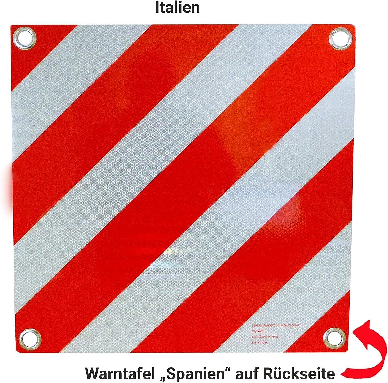 Hp Autozubehör 25132 Warntafel 2in1 Für Italien Und Spanien Auto