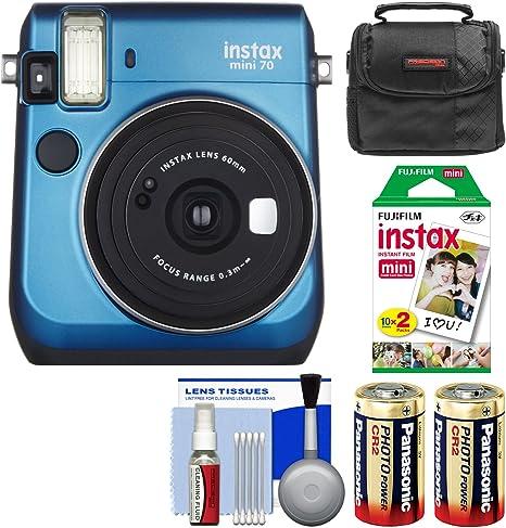 Fujifilm Instax Mini 70 – Cámara instantánea película con 20 impresiones + funda + baterías + kit: FUJIFILM: Amazon.es: Electrónica
