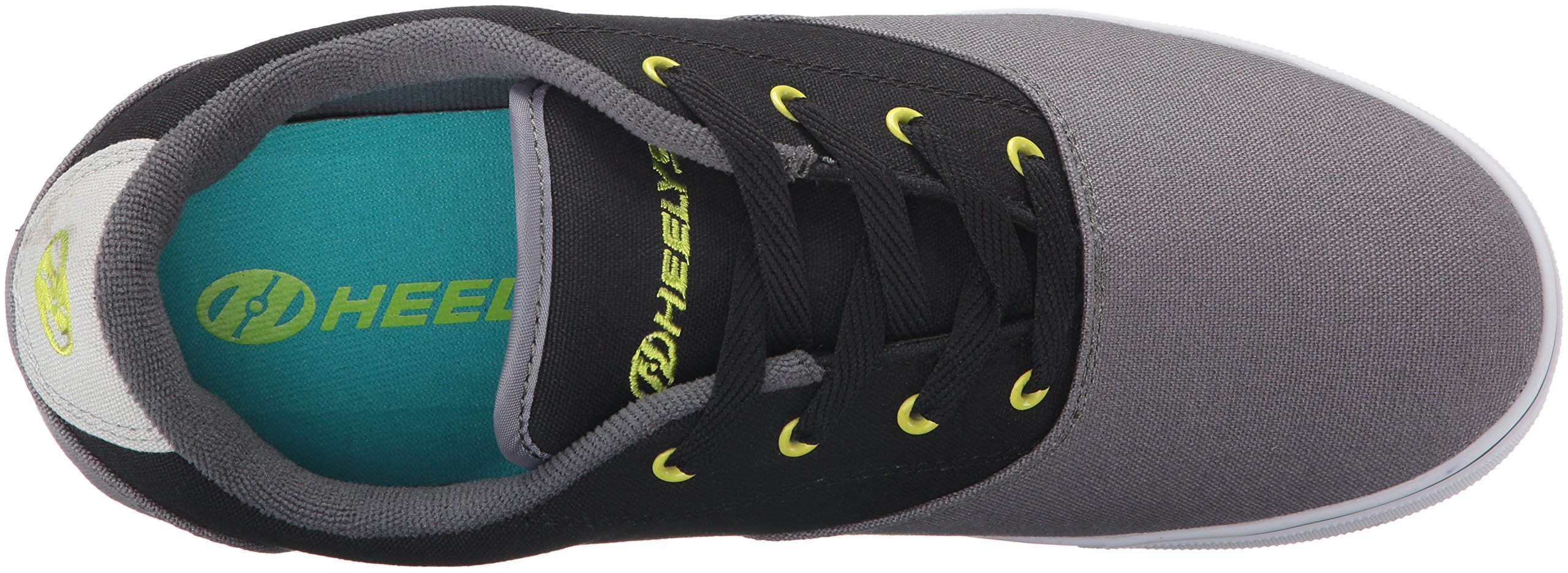 Heelys Men's Launch Fashion Sneaker Charcoal/Black/Lime 10 M US by Heelys (Image #8)
